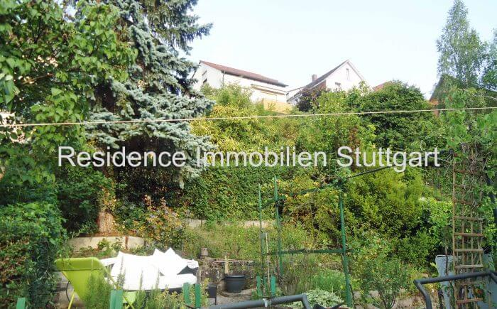 Garten - Blick - Einfamilienhaus - Stuttgart