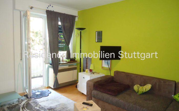 Zimmer, 1-Zimmer-Wohnung, Stuttgart West